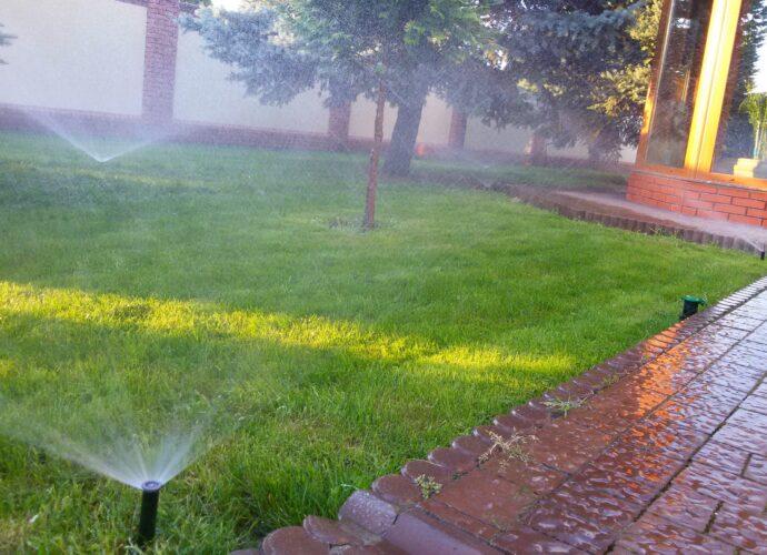 Как разместить оросители в зеленой зоне?
